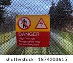 Sign Danger High Voltage...