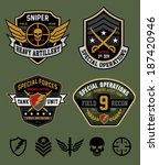 Special ops patch set - stock vector