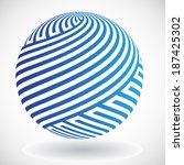 abstract vector sphere  | Shutterstock .eps vector #187425302