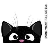 peeking out curious cat... | Shutterstock .eps vector #187431158