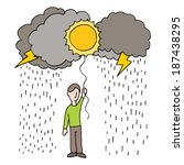 an image of rainy day... | Shutterstock .eps vector #187438295