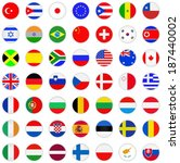 flags icon set  | Shutterstock .eps vector #187440002