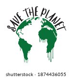 save the planet icon and emblem.... | Shutterstock .eps vector #1874436055