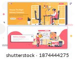 delivery company landing pages...