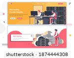 web hosting provider landing...
