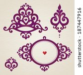 vector set with classical... | Shutterstock .eps vector #187447916
