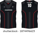 sleeveless tank top basketball  ... | Shutterstock .eps vector #1874496625