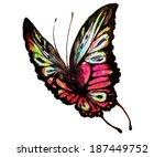 butterflies design | Shutterstock . vector #187449752