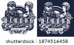 bikers. street style slogan....   Shutterstock .eps vector #1874516458