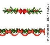 christmas holly brunches...   Shutterstock .eps vector #1874546578