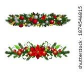 christmas holly brunches...   Shutterstock .eps vector #1874546815