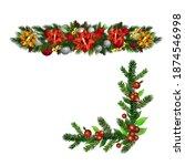 christmas holly brunches...   Shutterstock .eps vector #1874546998