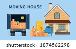 delivery service concept.... | Shutterstock .eps vector #1874562298