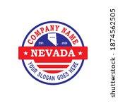 nevada map vector   country logo   Shutterstock .eps vector #1874562505