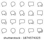 speech bubble set line icons in ...   Shutterstock .eps vector #1874574325