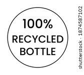 logo written 100 percent... | Shutterstock .eps vector #1874587102