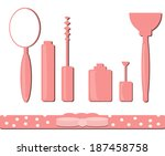 make up set | Shutterstock .eps vector #187458758