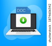 doc file icon. spreadsheet... | Shutterstock .eps vector #1874606542