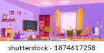 messy room in kindergarten with ... | Shutterstock .eps vector #1874617258