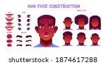 black man face construction ... | Shutterstock .eps vector #1874617288