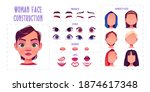 woman face construction  avatar ... | Shutterstock .eps vector #1874617348