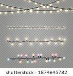 christmas lights isolated... | Shutterstock .eps vector #1874645782