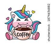 expression of a cute cartoon... | Shutterstock .eps vector #1874656882