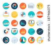vector set of flat business... | Shutterstock .eps vector #187466375
