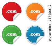 domain com sign icon. top level ...   Shutterstock .eps vector #187466642