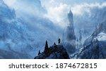 Fantasy Frozen Tower   Digital...