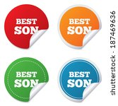 best son sign icon. award... | Shutterstock .eps vector #187469636