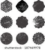 set of grunge stamp  | Shutterstock .eps vector #187469978