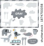gray color. cut the elements... | Shutterstock .eps vector #1874703358