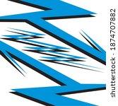 racing car wrap design vector | Shutterstock .eps vector #1874707882