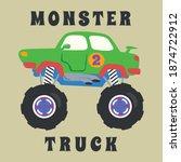 vector illustration of monster... | Shutterstock .eps vector #1874722912