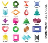 multicolored shapes set on the... | Shutterstock .eps vector #187473056