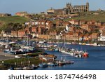 The Ruins Of Whitby Abbey Above ...