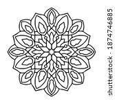 mandalas arabesque ornate art ... | Shutterstock .eps vector #1874746885