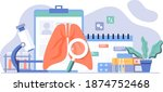 lung inspection. pulmonology of ... | Shutterstock .eps vector #1874752468