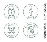 vector set of design elements ... | Shutterstock .eps vector #1874856958