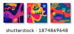 a set of bright abstract...   Shutterstock .eps vector #1874869648