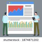 data analysis vector  isolated... | Shutterstock .eps vector #1874871202