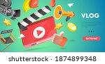 3d isometric flat vector... | Shutterstock .eps vector #1874899348