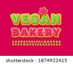 vector creative logo vegan... | Shutterstock .eps vector #1874922415