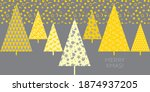 yellow and gray patchwork style ... | Shutterstock .eps vector #1874937205