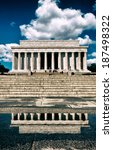 the lincoln memorial in... | Shutterstock . vector #187498322