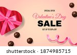 valentine's day banner promo... | Shutterstock .eps vector #1874985715