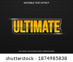 ultimate text effect with bold...   Shutterstock .eps vector #1874985838