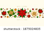 holiday banner with christmas... | Shutterstock . vector #1875024835