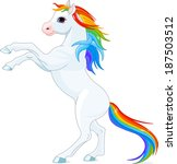Rainbow Mane And Tail Horse ...